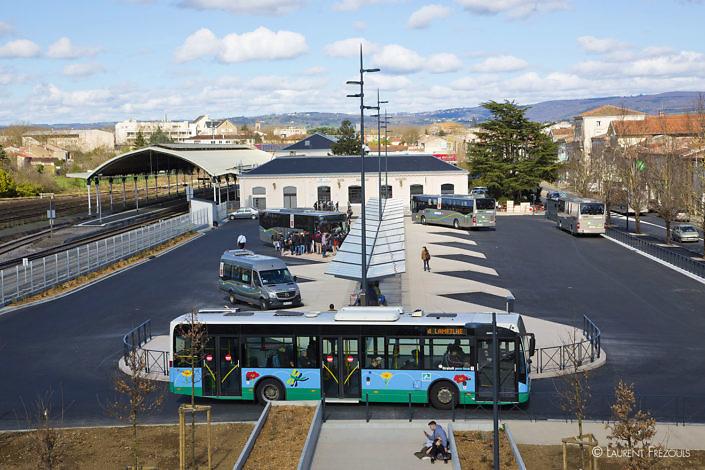 Le pôle d'échange multimodal à Castres