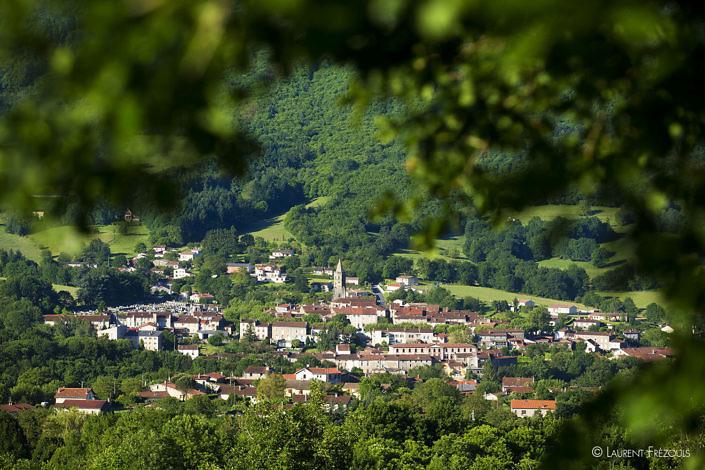 Le village de Saint-Amans-Soult au pied de la Montagne noire
