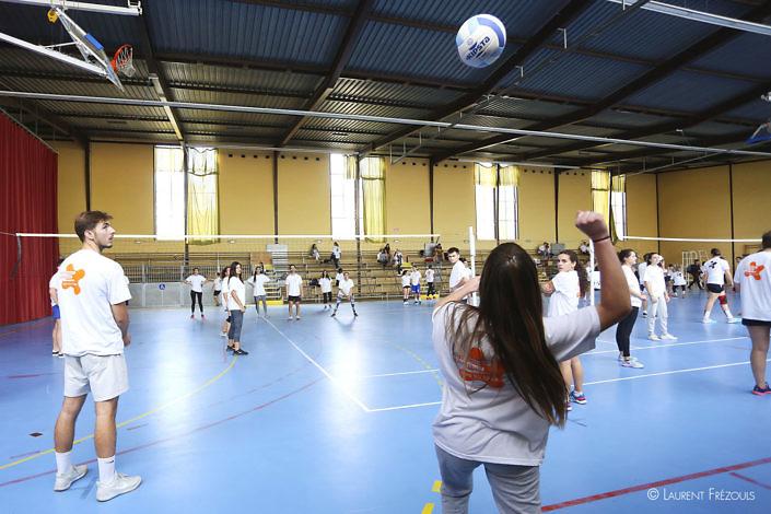 Volley défi sur le campus à Castres